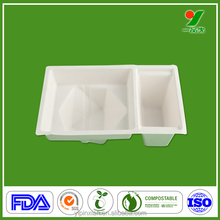 Natural sugarcane fibers custom BRC paper cup tray