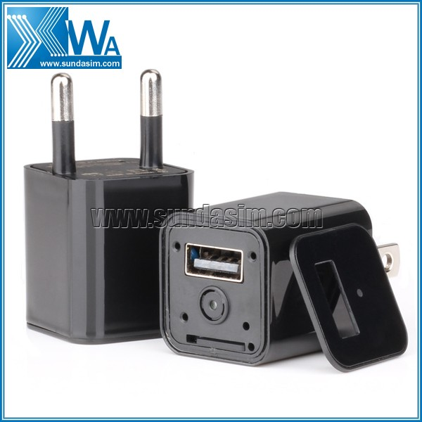 2016 1080P Smallest Hidden M1S Camera Charger Without Pinhole, Plug and Play