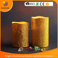 BSCI factory LED wax candle light Gold wire drawing candle light decorative candle