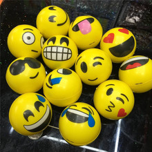 Hot Selling Face Expression Emoji Stress Cute PU Squeeze Balls Stress Toy Ball
