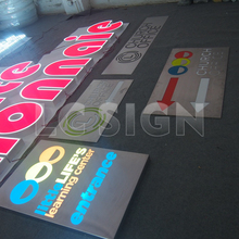 Indoor acrylic light box signage with waterproof led light