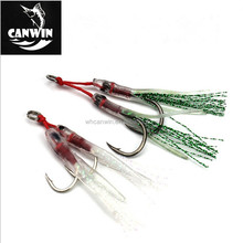 Rigged Tandem Double Jig Hooks for Slow Pitch Jigging Lures Assist Pike Hooks For Saltwater Fishing