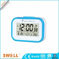 flower shape radio control table alarm clock with timer