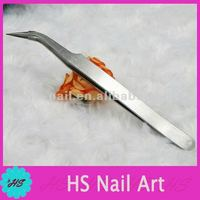 Nail tweezers for picking small nail accessories