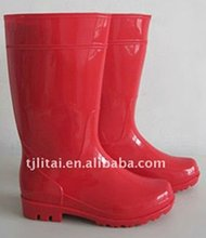2012 NEW fashionable lightweight red boots tall rain boot for women