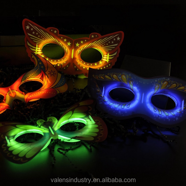 Hot New Product Factory Supplier Eagle Style Glow in the Dark Mask for Halloween Party and Costume Ball