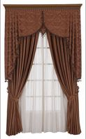 Customized curtain chic fabric window shade black/brown/gold