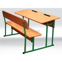 MDF Double Seater School Bench & Desk, Modern classroom furniture student table chair set