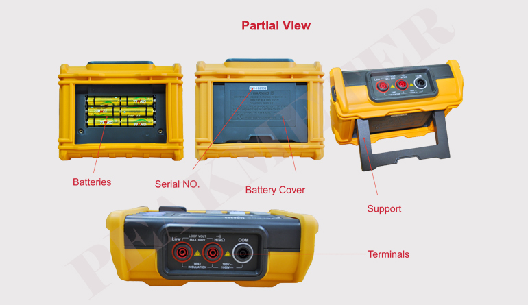 With Multimeter Analogue Display 2500V Digital Insulation Resistance Tester Megger 100G Ohm MS5205