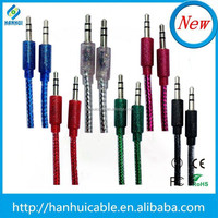 2015 hot sell Braided 3.5mm jack audio cable