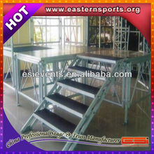 Factory price led exhibition aluminum stage
