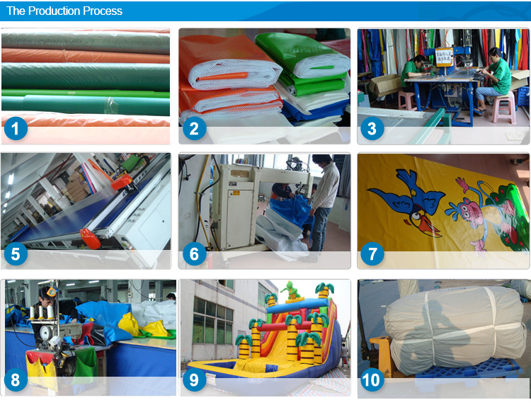 large inflatable castle kids playground with large inflatable slide and climb wall