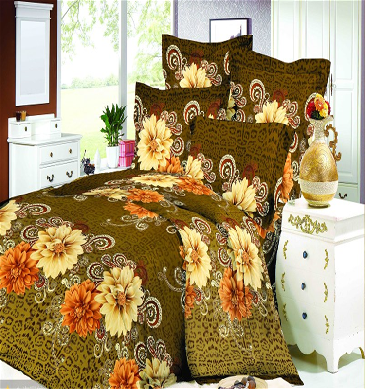 Flower printing polyester bedding fabric