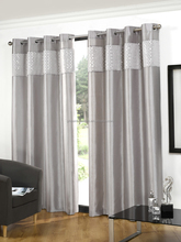 embroidered voile curtains with loops