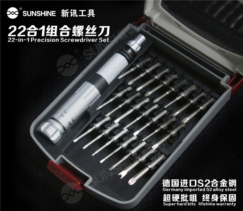 Wholesale Portable 22 In 1 Replaceable s2 Mini Screwdriver Tool Set