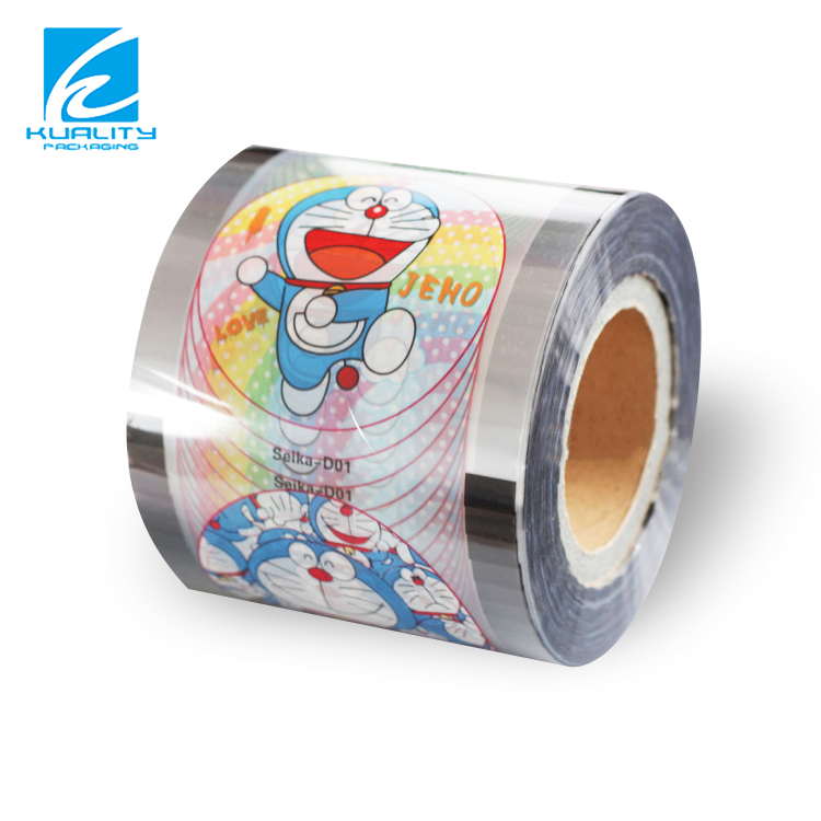 Plastic Yogurt Cup Cover Film Peelable Lidding Film