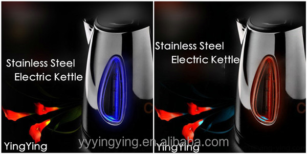 360 degree rotation stainless steel electric kettle GS,CE,ROHS,LFGB 2200W Boil Dry Protection Cordless Electric Jug Kettle