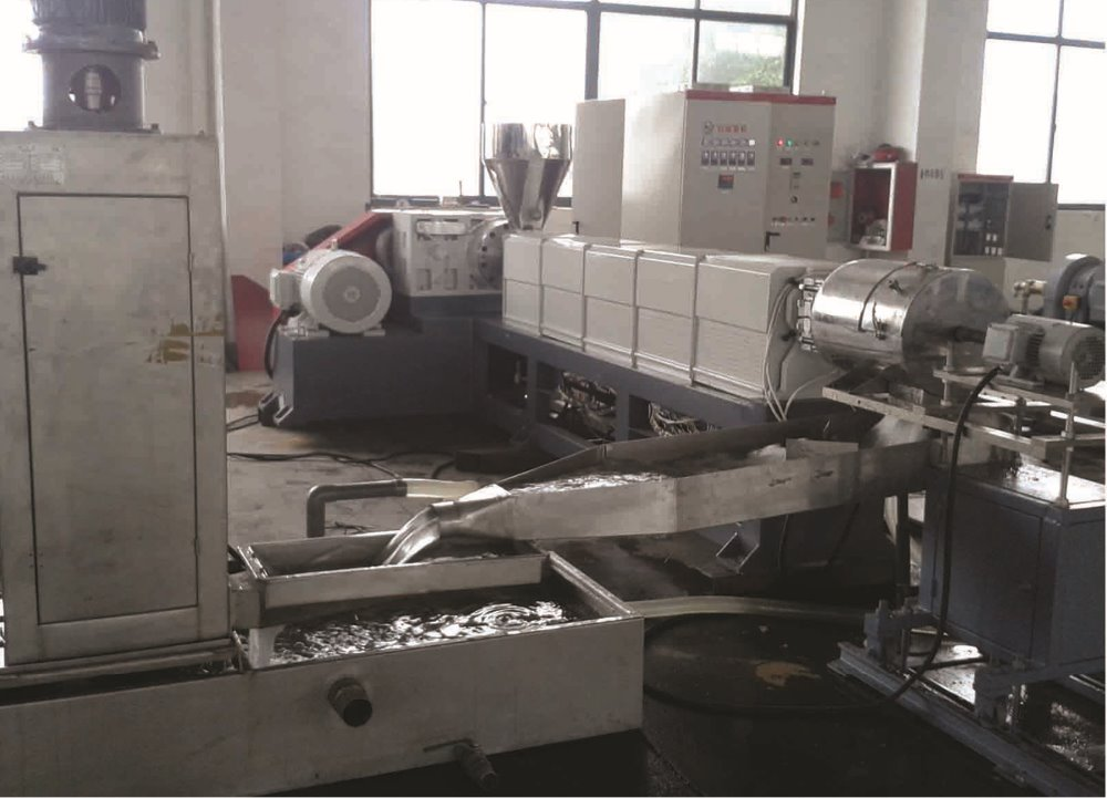 PE cable shelth compounding extrusion pelletizing granulator machine