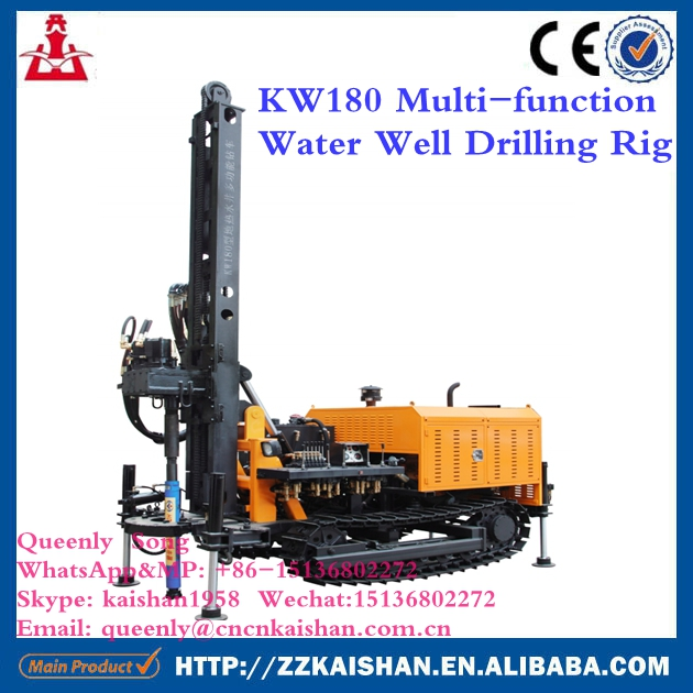 kaishan mini water well drilling rigs crawler type water borehole drilling machine KW180(180m depth)