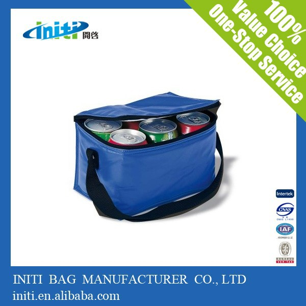 2015High Quality Eco Friendly Insulated Foil Lining Blue Cooler Bag For Frozen Food