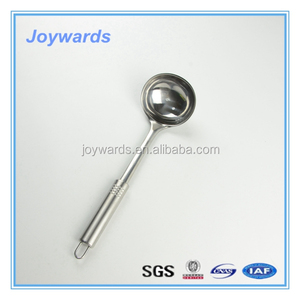 Hot sale security long handle stainless steel chinese type soup ladle
