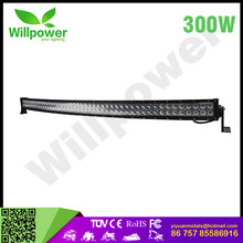 Super star led high lumen led 52 inchcurved led light bar cover 300w watt led lights for cars and truck