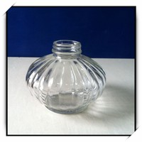 600ml pumpkin shape glass liquid soap bottles with pump sprayer