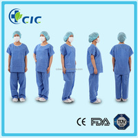 Chinese manufacturer Disposable nonwoven cool antistatic scrub suits
