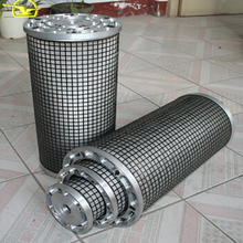 Easy to clean three-tier filter for lube oil