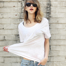 Fashion womens fashion lady dress t-shirt ladies clothes private label 100 cotton clothing women
