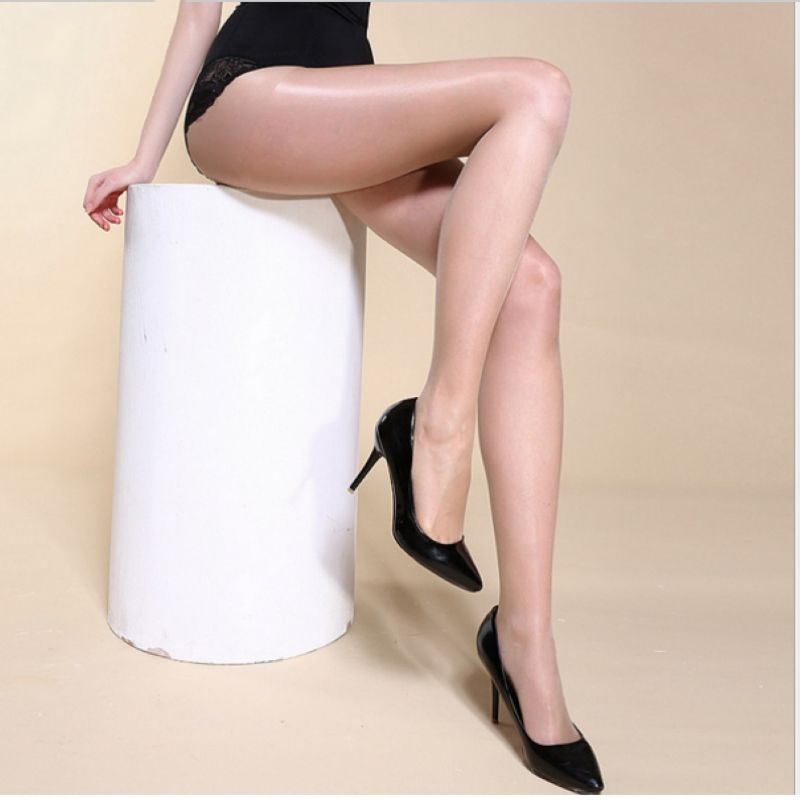 15D Women's sexy oil Shiny pantyhose yarns satin Stockings hose bas resille Fitness Leggings lingerie