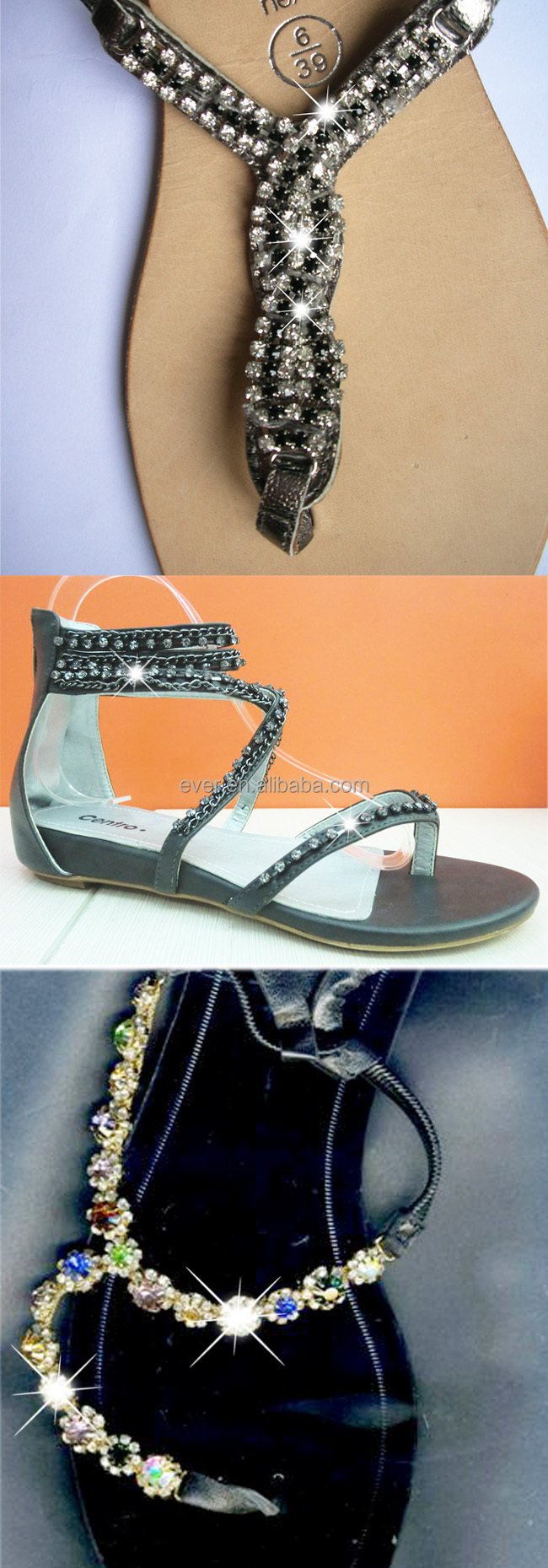 new arrival fashion rhinestone shoe chain