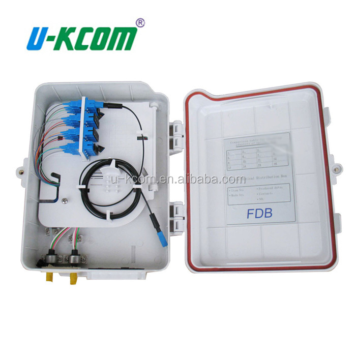 Low cost 8 cords FTTH fibre optic termination box