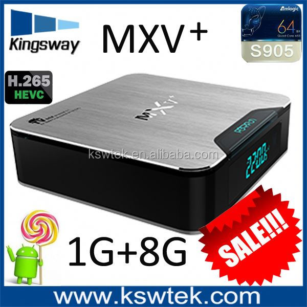 MXS PLUS MXV Pro Android TV Box Amlogic S905 Quad Core Android 5.1 DDR3 1G EMMC Flash 8G WIFI 4K 1080p better than MXV mxv