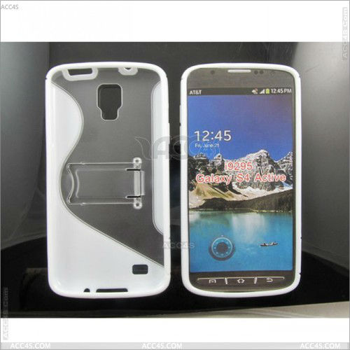 S line Clear tpu + pc Case for Samsung Galaxy S4 Active I9295 P-SAMI9295HCSO001
