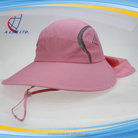 Custom High End Fashion Outdoor Women Sun Protection Hat With Neck Cover