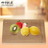 Strong Light Moso Bamboo Carving Board with Drip Groove Topside