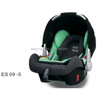 Baby car seat/baby carrier with integrated sunshade