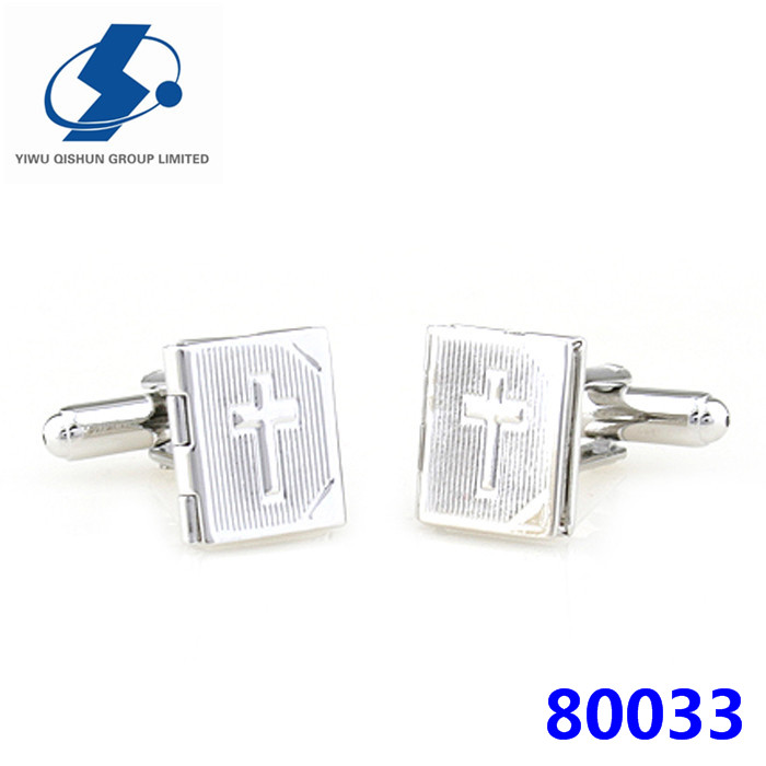 Best Choice Bible Shaped Engraved Photo Cufflinks Metal Cuff Link Cufflink Parts Accessories For Men