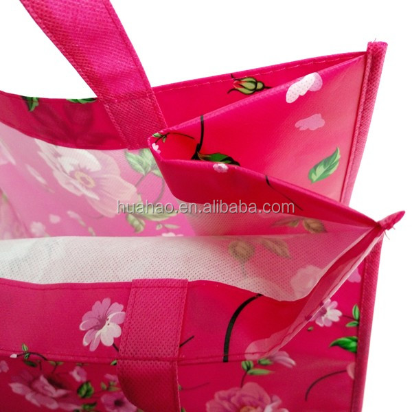 promotional laminated cloth shopping cheap price non woven bag