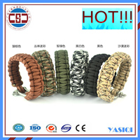 Guangzhou fashion bracelet factory supply outdoor metal buckle survival paracord bracelet buckle