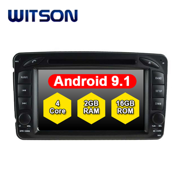 WITSON Quad-Core Android 9.1 car multimedia system FOR MERCEDES-BENZ C CLASS W203 CLK W209 M W163 W639 car dvd player