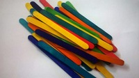 Small multicolored Wood Craft Sticks Jumbo unfinished flat wood sticks