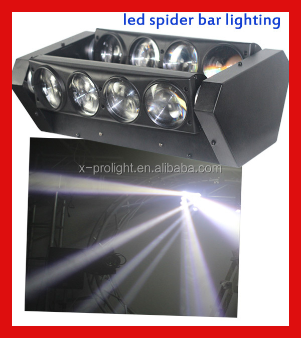 New arrival !!8*10W cool white /RGB 3IN1 dj bar stage lights led beam moving lights