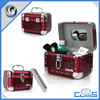 MLD-CC513 Aluminum Beauty Hard Leather Box Makeup Train Vanity Case With Tray