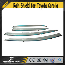 2014 Electroplate PC Car Window Visor Vent Shade for Toyota Corolla