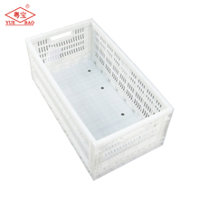 Plastic collapsable folding crate chicken egg transporting cage
