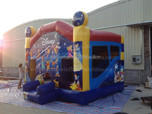 Cartoon type inflatable Bouncy castle combo,bounce house for sale