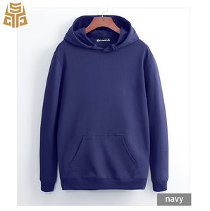 Wholesale French Terry Mens Blank Custom Crew Neck Hooded Sweatshirts Casual Drawstring Pullover Slim Fit Plain Hoodie