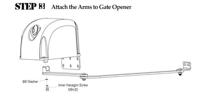 Heavy Duty Electric Articulated Swing Gate Opener